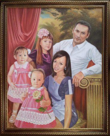 Семейный портрет маслом в Астраханье — правильная традиция…