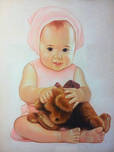 Часто скучаете по своим деткам? Закажите портрет пастелью!