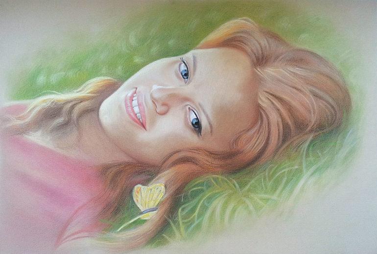 Настоящий портрет пастелью для любимой девушки в Астраханье, просто и со вкусом!