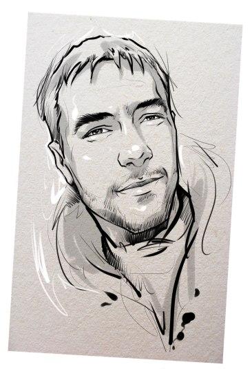 Портрет карандашом любимому мужу в Астраханье…