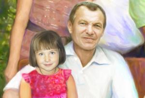 Портрет на холсте в Астрахане