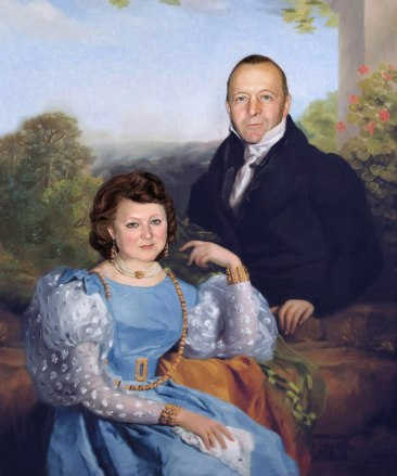 Семейный портрет по фото на холсте Астрахань.