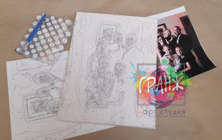 Картина по номерам по фото портреты на холсте и дереве в Астрахани