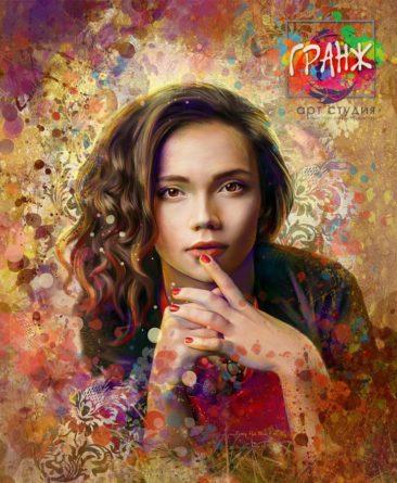 Портрет по фото, подарок на 14 февраля заказать Астрахань