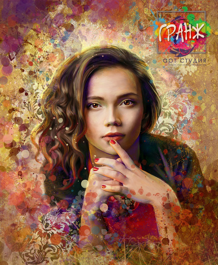 Портрет по фото, подарок на 14 февраля. Заказать в Астрахани.