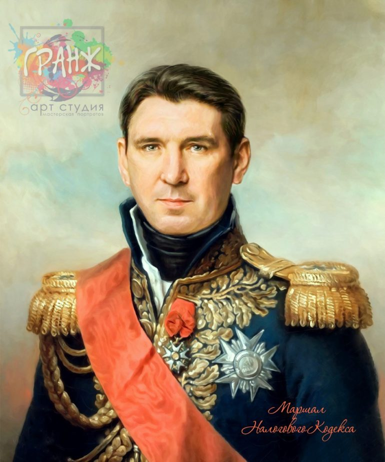 Портрет по фото на холсте в подарок мужчине на 23 февраля Астрахань