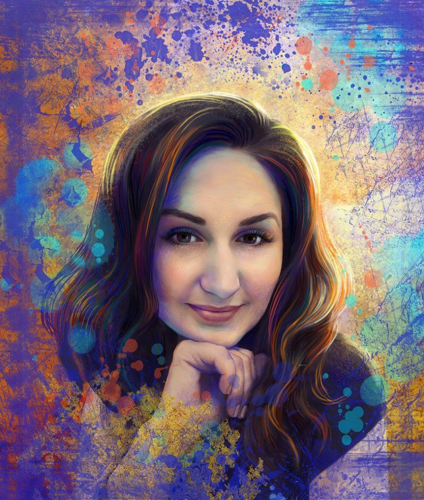 арт портрет девушка