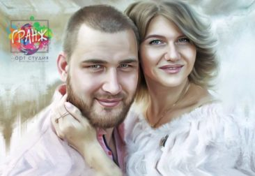 Где заказать портрет по фотографии на холсте в Астрахани